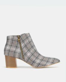 Jada Zip Ankle Boots Grey