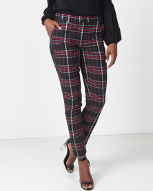 Silent Theory Rated Plaid Pants Black