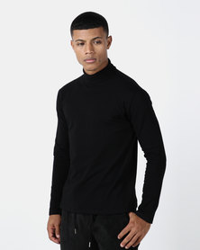 Utopia Basic Knit Poloneck Black