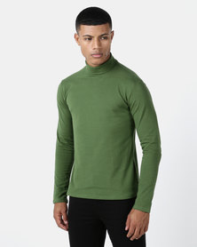 Utopia Basic Knit Poloneck Olive