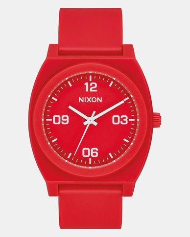 Nixon Time Teller P Corp Watch Matte Red/White
