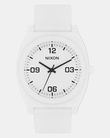 Nixon Time Teller P Corp Watch Matte White/Black