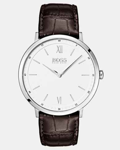 Hugo Boss Essential Watch Leather Strap Brown