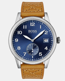 Hugo Boss Legacy Watch Leather Strap Tan