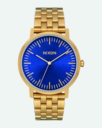Nixon  Porter Watch All Gold/Blue Sunray