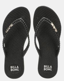 Billabong Kick Back Thong 2 Solid Black
