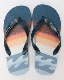 Billabong Boys Fluid Thong Sandals Blue