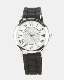 Bad Girl Enchanted Watch Silver & Black