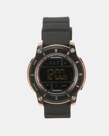 Bad Boy Digital 100M WR Watch Black & Rosegold