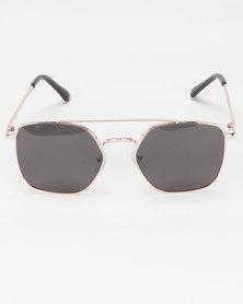 Bad Boy Run Polarized Sunglasses Gold