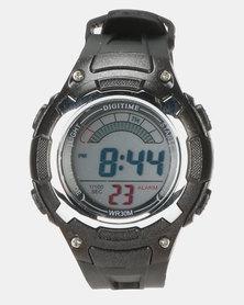 Digitime LCD Sports 30M WR Watch Black
