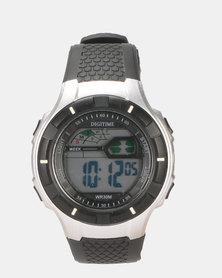 Digitime LCD Active 30M WR Watch Black