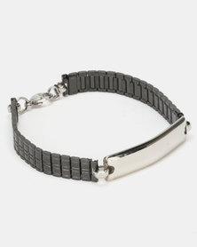 Digitime Stainless Steel Bracelet Silver Black