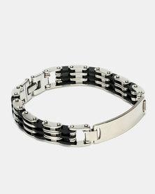 Digitime Multi Stainless Steel Bracelet Silver Black