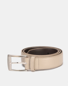Saddler Belts 35 mm Genuine Soft Leather Mens Belt Light Beige
