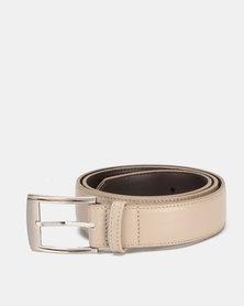 Saddler Belts 35 mm Genuine Soft Leather Mens Belt Light Beige