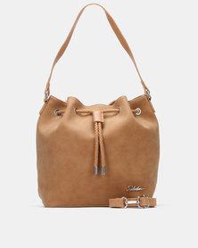 Seduction Drawsttring Bucket Bag Light Tan