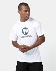 Merrell Stacked Logo Tee White