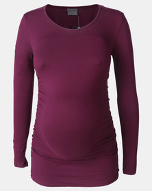 Cherry Melon Round Neck Top Port