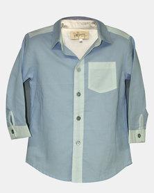 Razberry Kids Blue/White Colourblock Baby Boys Shirt