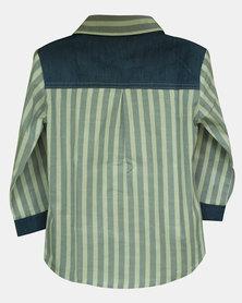 Razberry Kids Baby Boys Shirt With Denim Trim