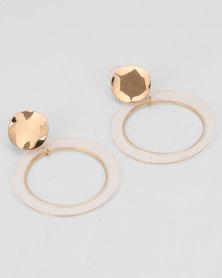 All Heart Halo Drop Earrings Gold
