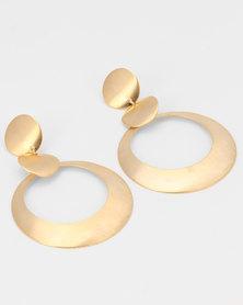 All Heart Sculptural Drop Earrings Gold