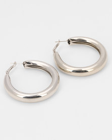 All Heart Luscious Hoop Earrings Silver