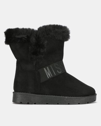 Miss Black RAE Ankle Boots Black