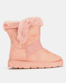 Miss Black RAE Ankle Boots Pink