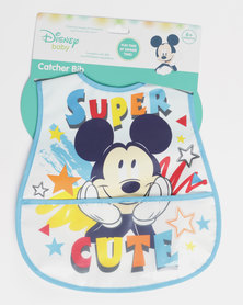 Mickey Mouse Catcher Bib Blue
