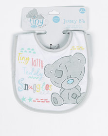 Tiny Tatty Teddy Jersey Bib Grey