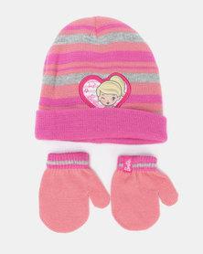 Barbie Beanie & Mittens Pink