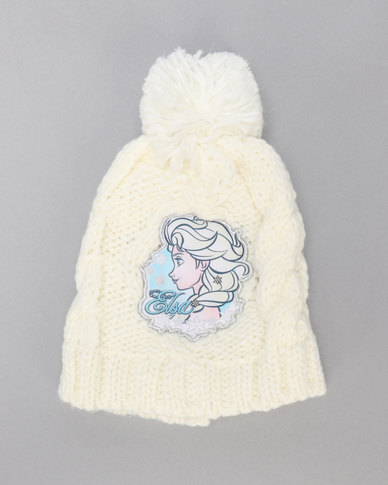 Character Brands Frozen Cable Beanie White