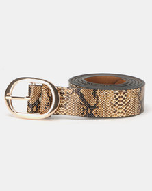 Lily & Rose Slither Belt Brown