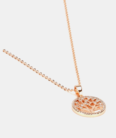 IDesire Tree of Life Pendant Necklace Rose Gold