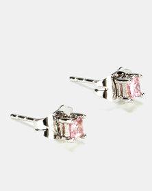 IDesire Tiny Stud Earrings Pink