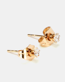 IDesire Round Stud Earrings Gold