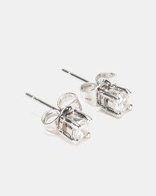 IDesire Round Stud Earrings Silver