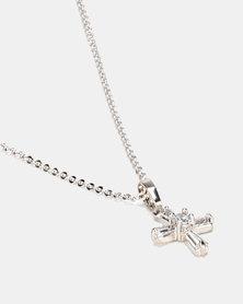 IDesire Cross Pendant Necklace Silver