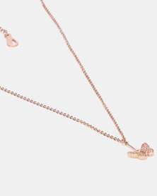 IDesire Butterfly Pendant Necklace Rose Gold