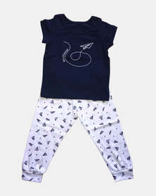 Cotton Club Kids Boys Papper Jet Autumn Pyjama Set