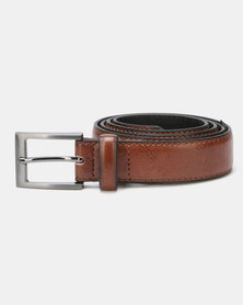 New Look Leather-Look Formal Belt Tan