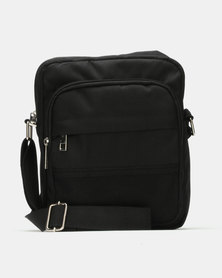 New Look  Mesh Trim Body Bag Black