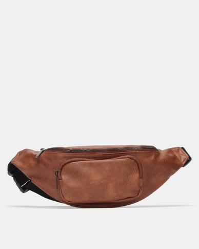 New Look Leather-Look Bum Bag Tan