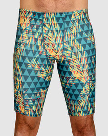 Vivolicious Teal Sunset Men's TechFit Short Tights Print