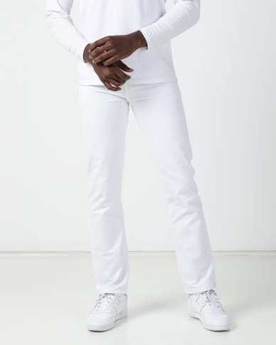 New Noble Slim Fit Trousers White