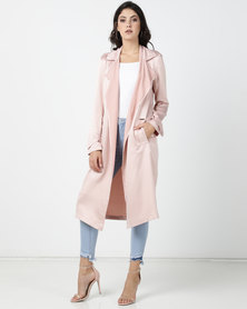 Sissy Boy Boity Luxe Trench Coat Dusty Pink