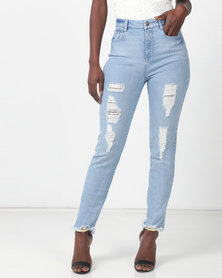 Sissy Boy Medium Vintage Mom Jeans With Rips