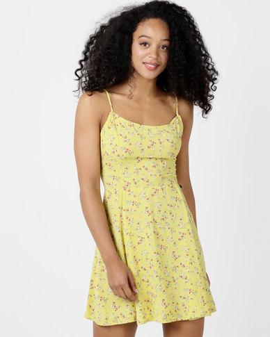 Sissy Boy Mixtape Printed Day Dress Yellow